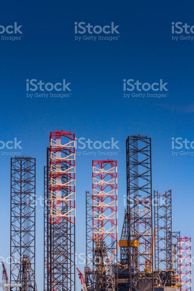 Oil Rigging stock photo