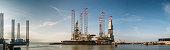 Oil rigs in Esbjerg harbor, Denmark