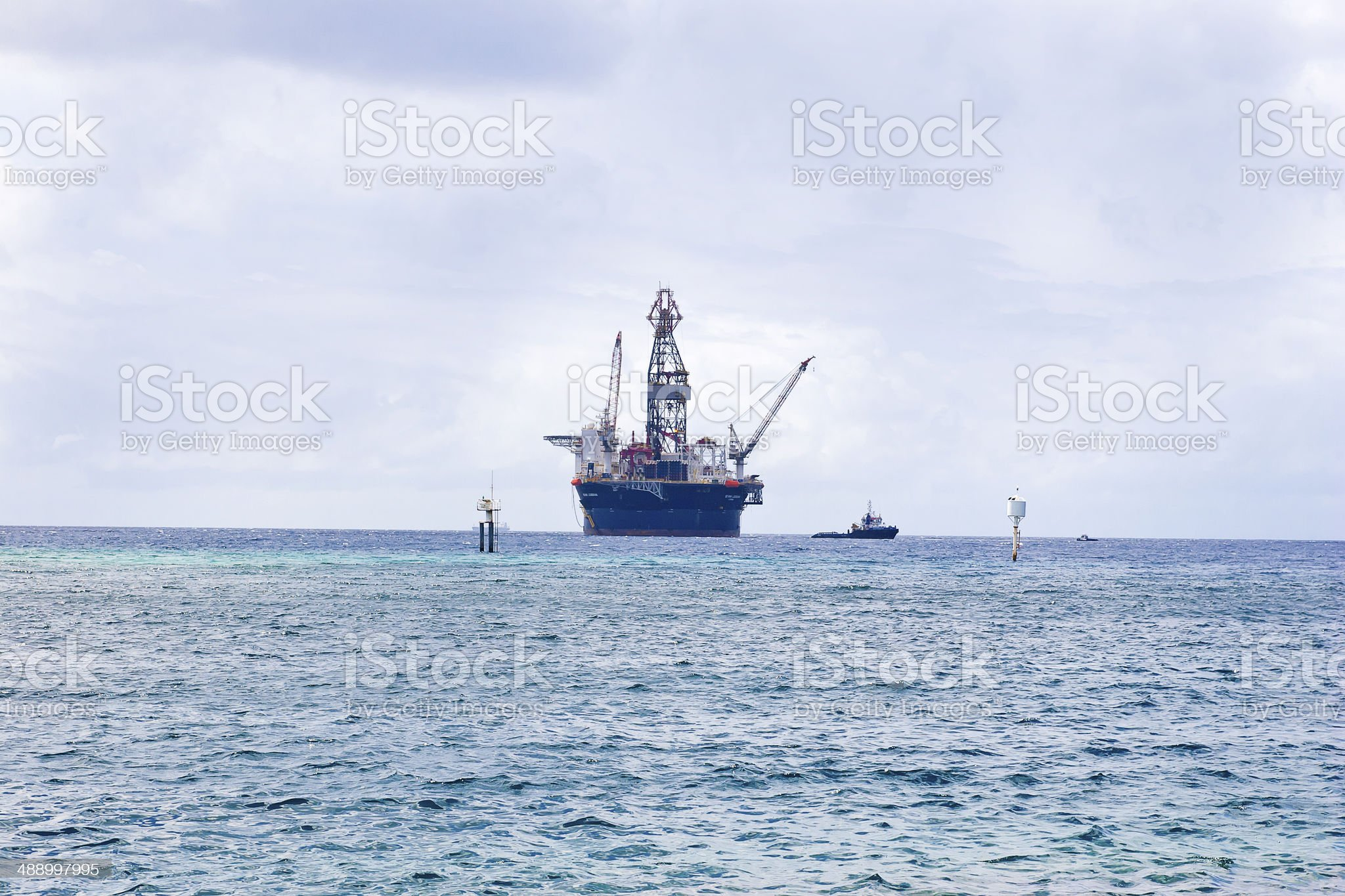 Oil Ring in the Caribbean royalty-free stock photo