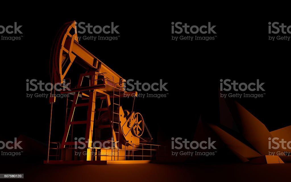 Oil rocking chair stock photo