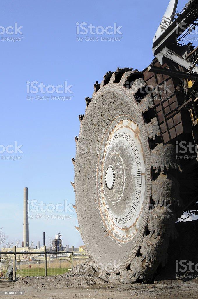Oil sands mining in Alberta stock photo