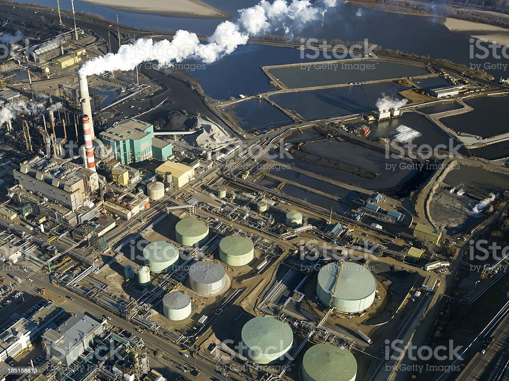 Oil Sands Refinery stock photo