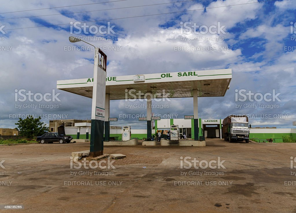 Oil Sarl Gas Station in Bamako, Mali royalty-free stock photo
