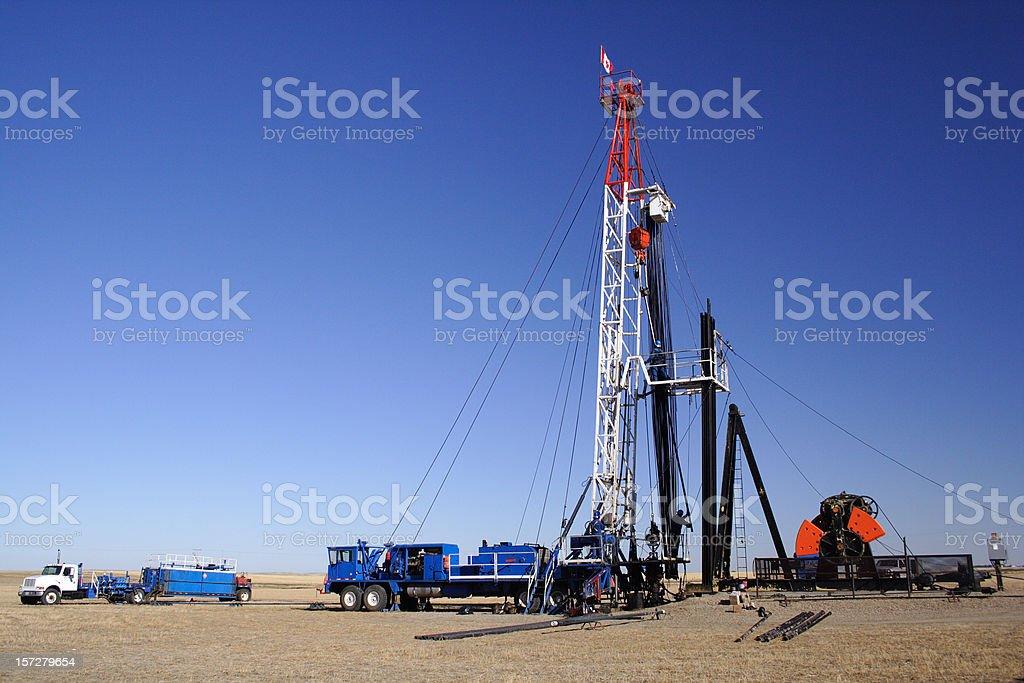 Oil Service Rig stock photo