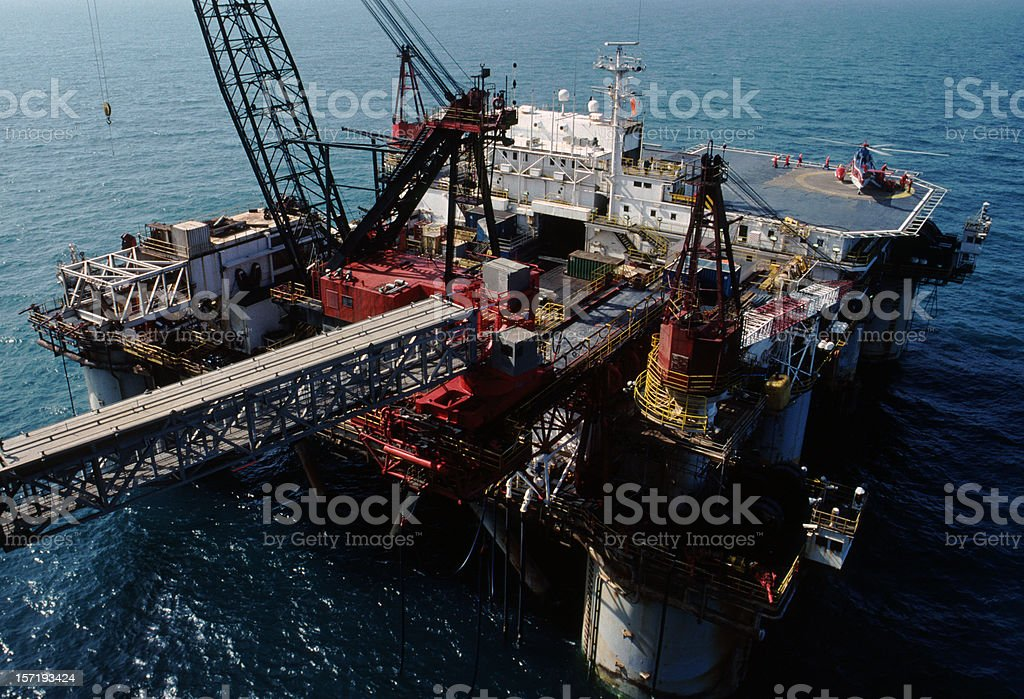 Oil service vessel in the North Sea royalty-free stock photo