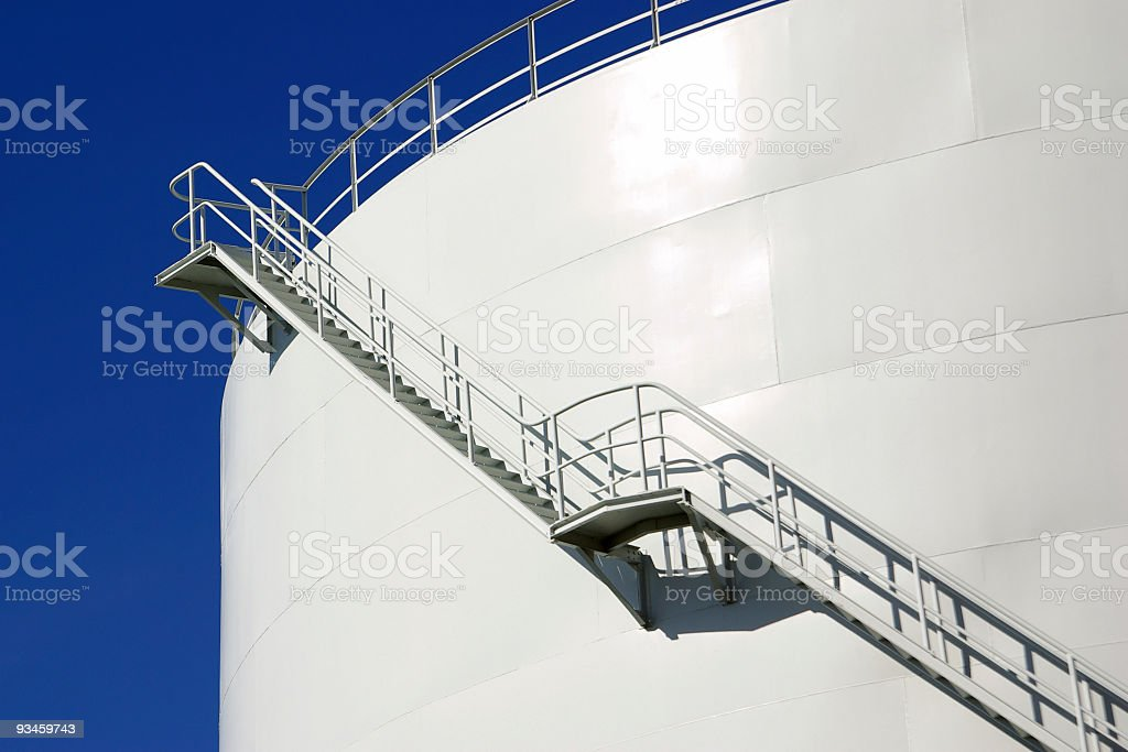 Oil Silo royalty-free stock photo