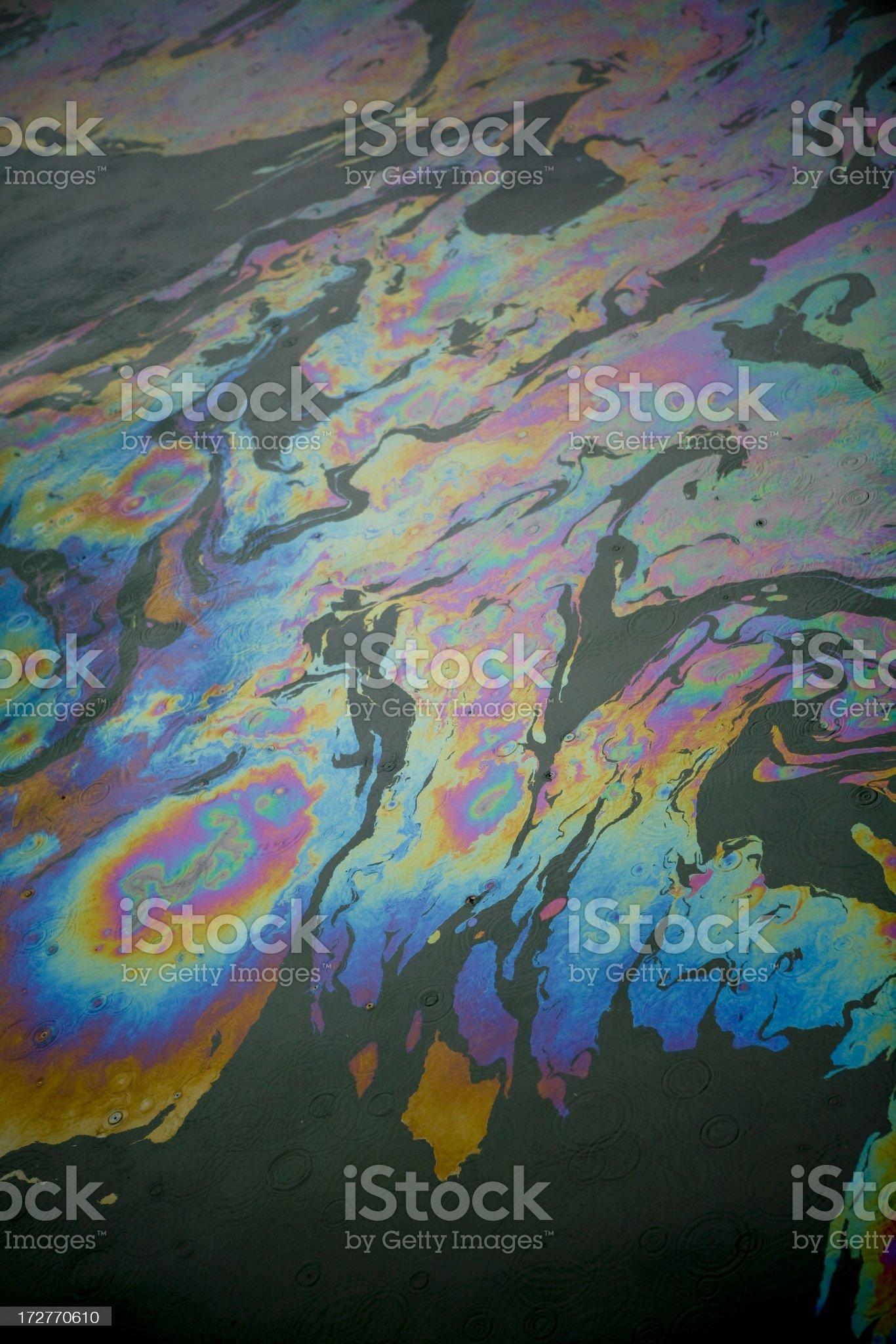 Oil Slick royalty-free stock photo