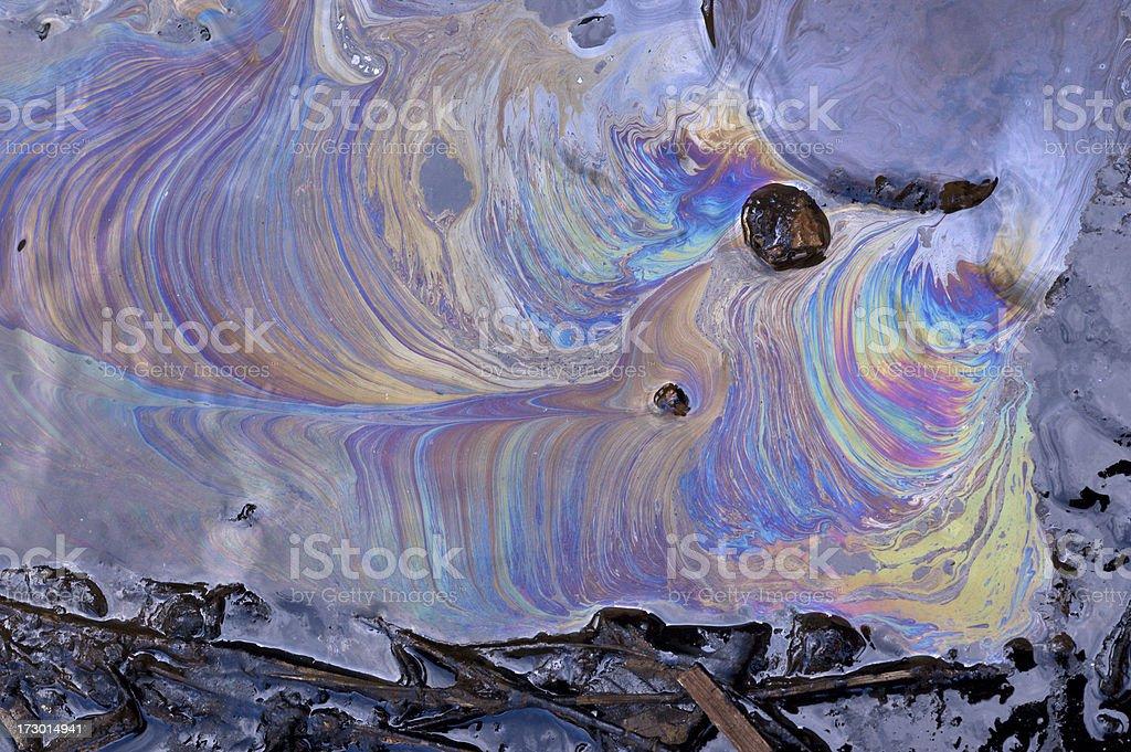 Oil Slick stock photo