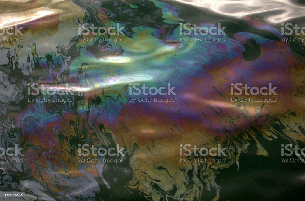 Oil Slick Rainbow royalty-free stock photo