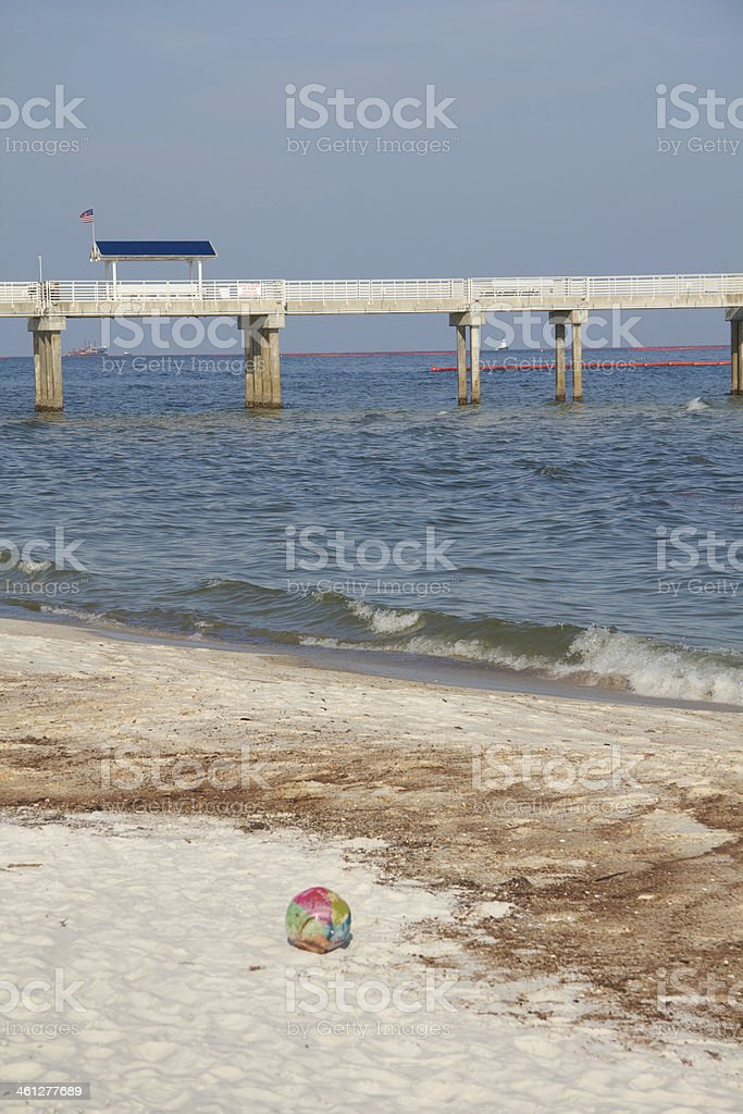Oil soaked beach royalty-free stock photo