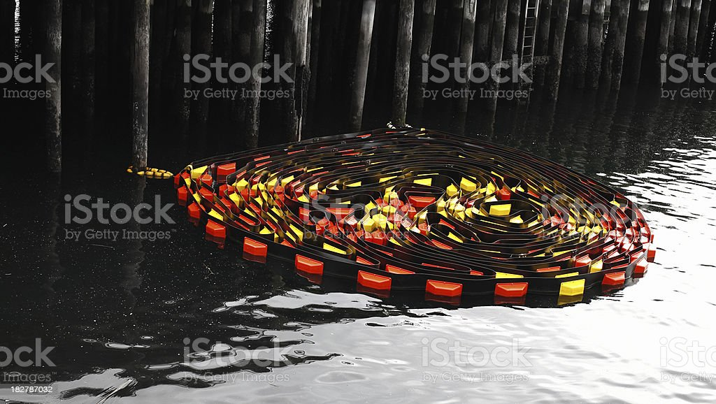 Oil Spill Control stock photo