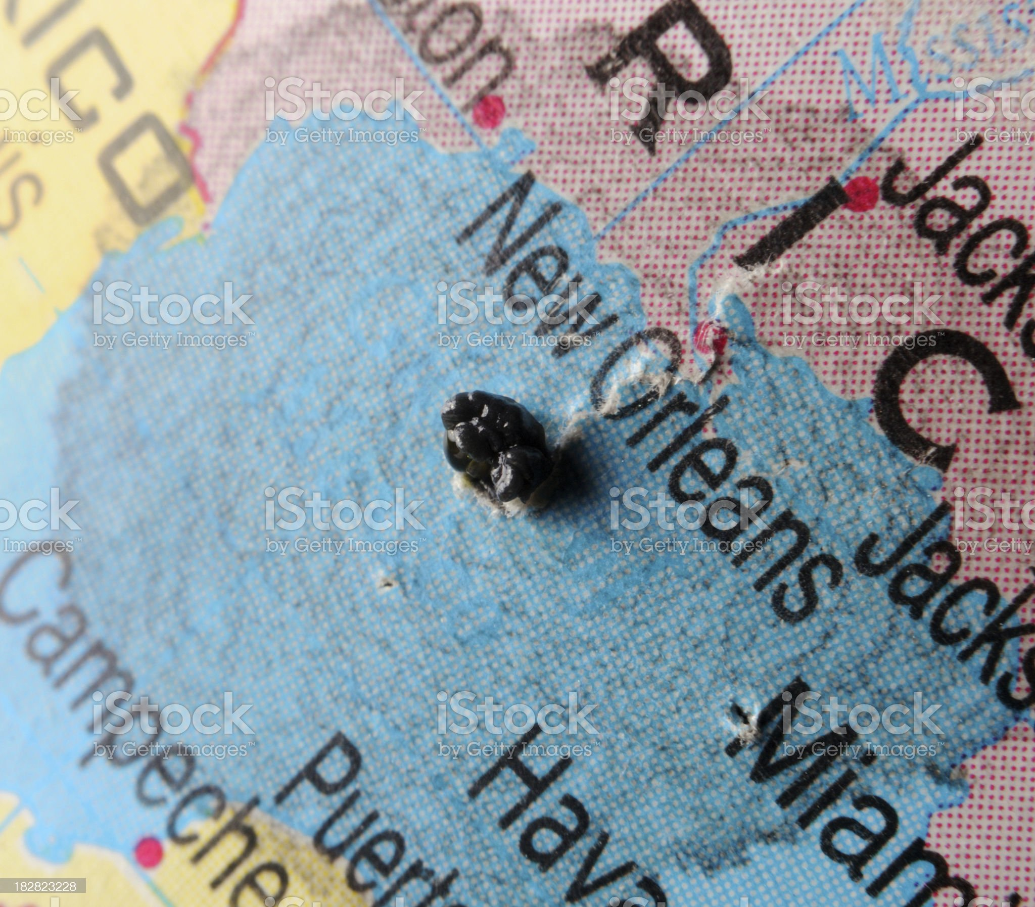 Oil spill in the gulf of mexico royalty-free stock photo