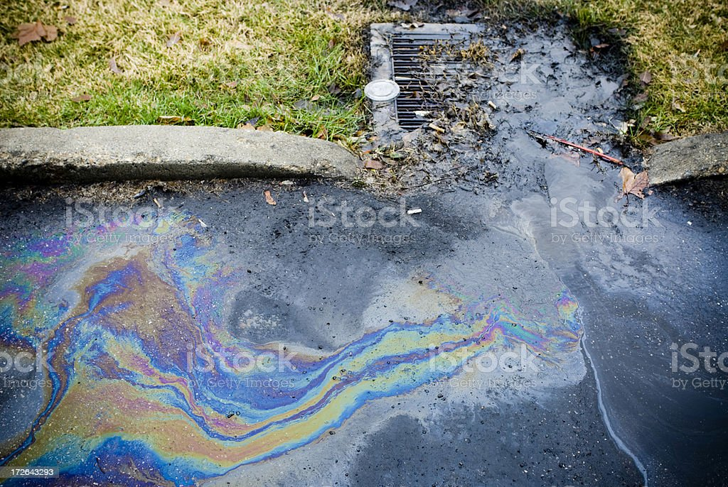 Oil spill stock photo