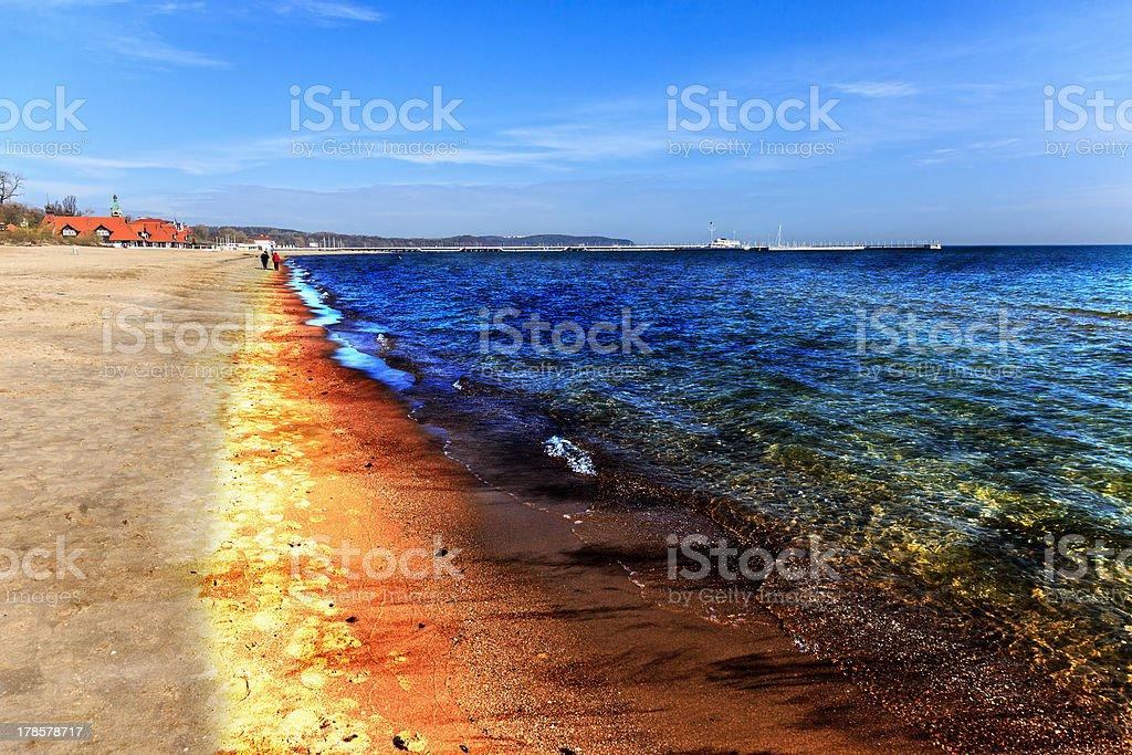 Oil spill stock photo