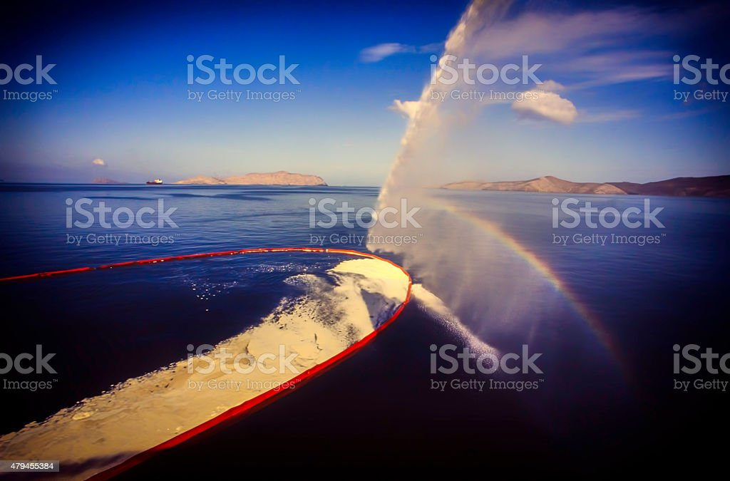 Oil Spill Recovery 2 stock photo