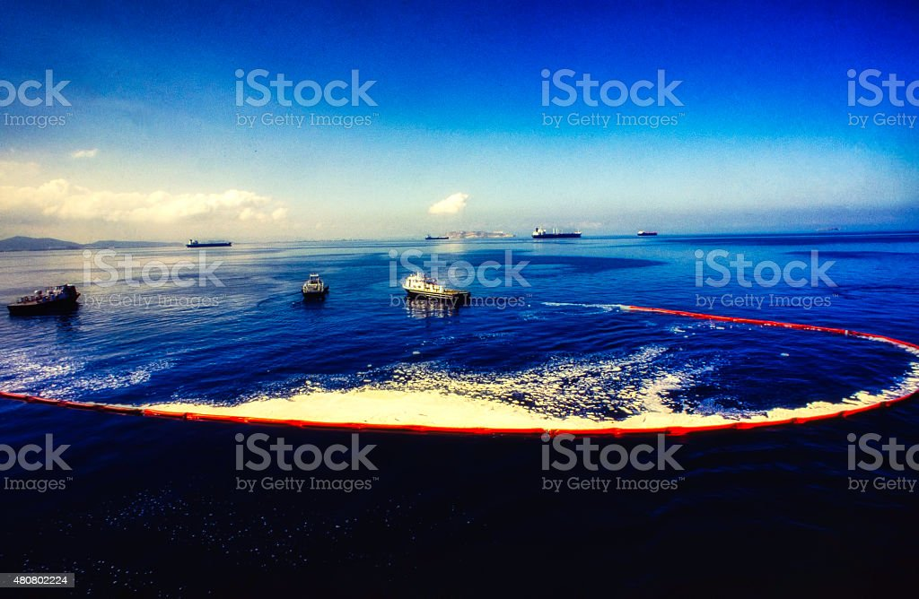 Oil Spill Recovery 3 stock photo