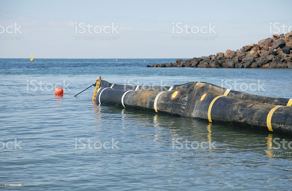 oil spill response boom royalty-free stock photo