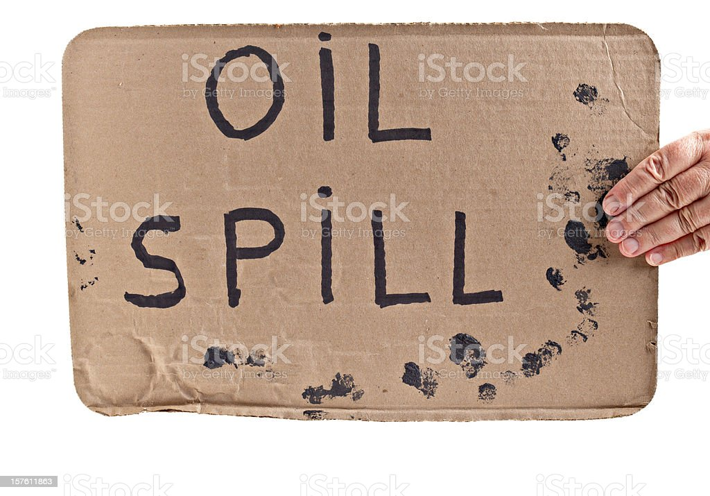 Oil Spill Sign royalty-free stock photo