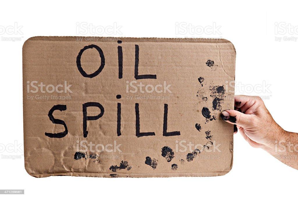 Oil Spill Sign stock photo