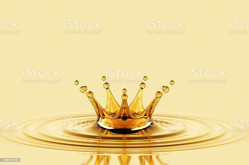 Oil Splash Crown stock photo