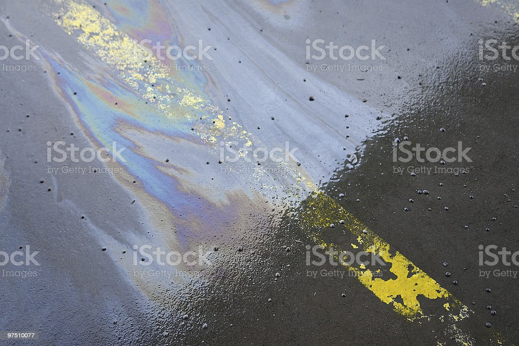 Oil stain stock photo
