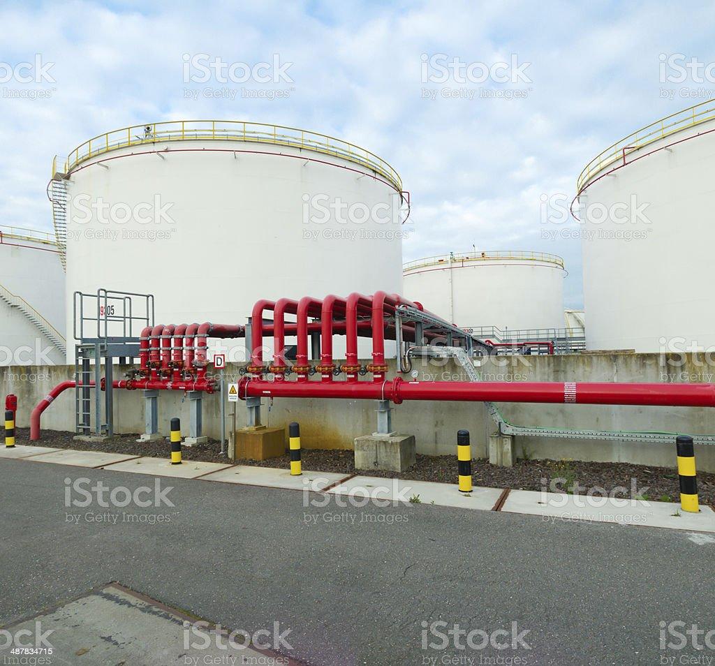 oil storage stock photo