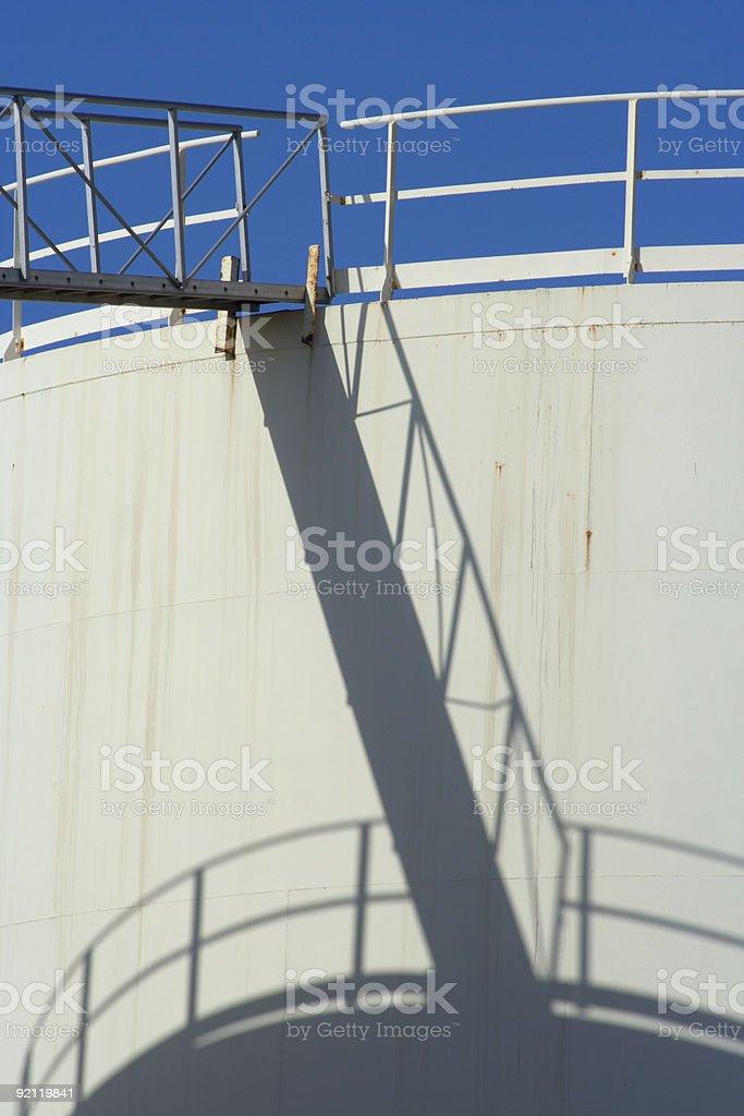 Oil Storage Tank Detail royalty-free stock photo