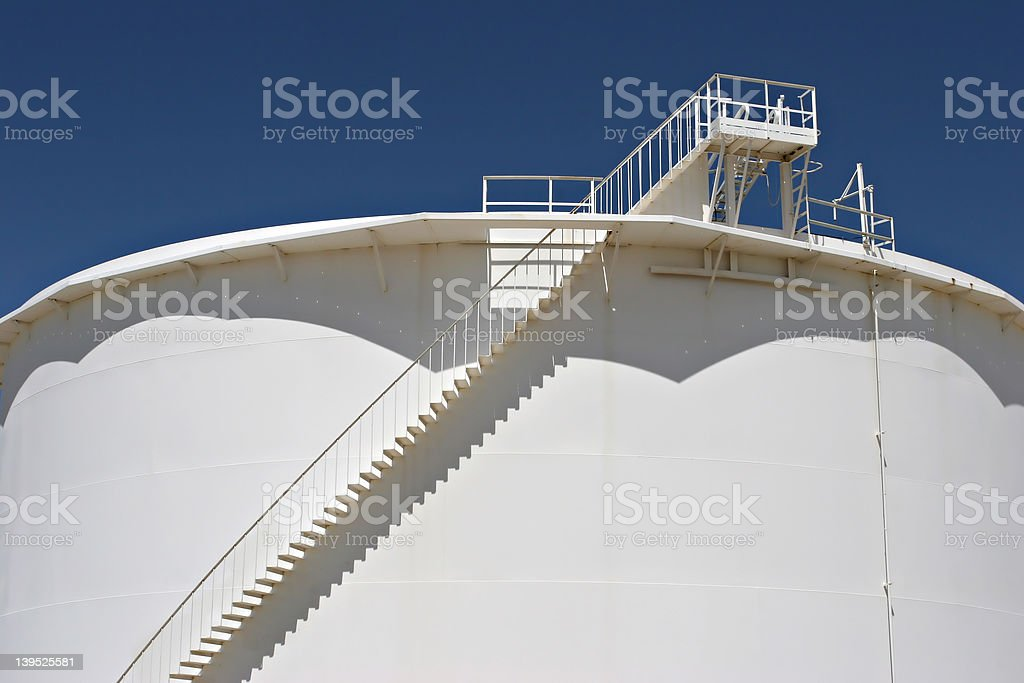 oil storage tank royalty-free stock photo