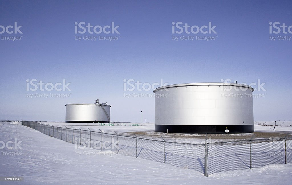 Oil Storage Tanks royalty-free stock photo