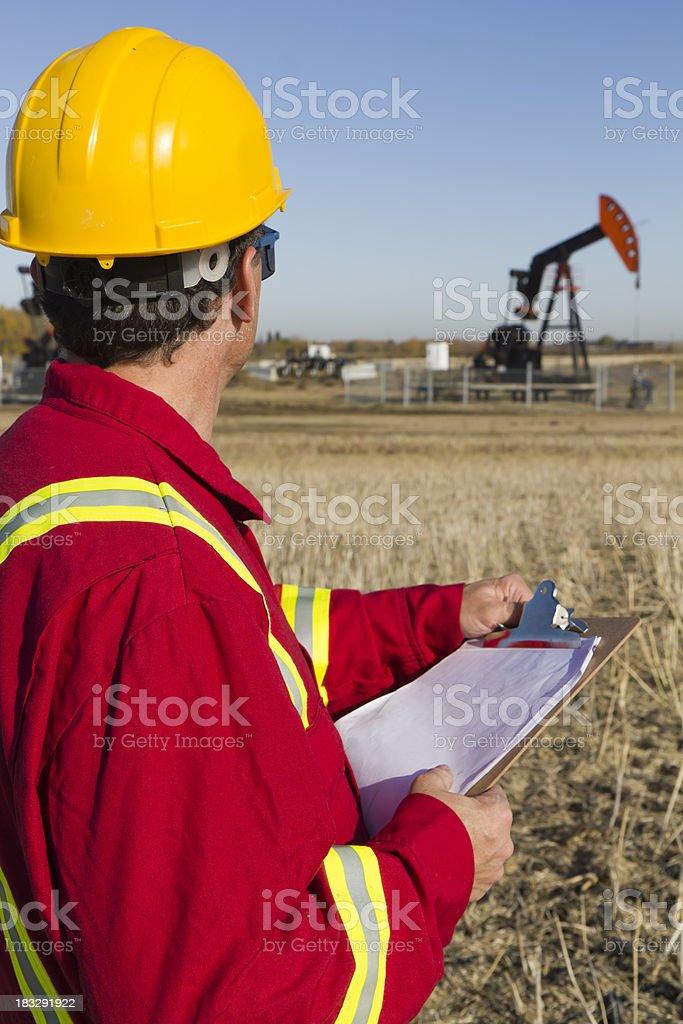 Oil Surveyor royalty-free stock photo