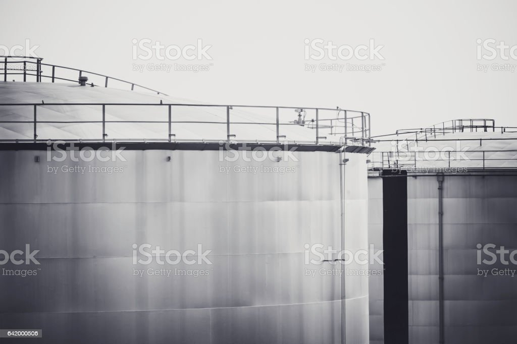 Oil tank for background stock photo