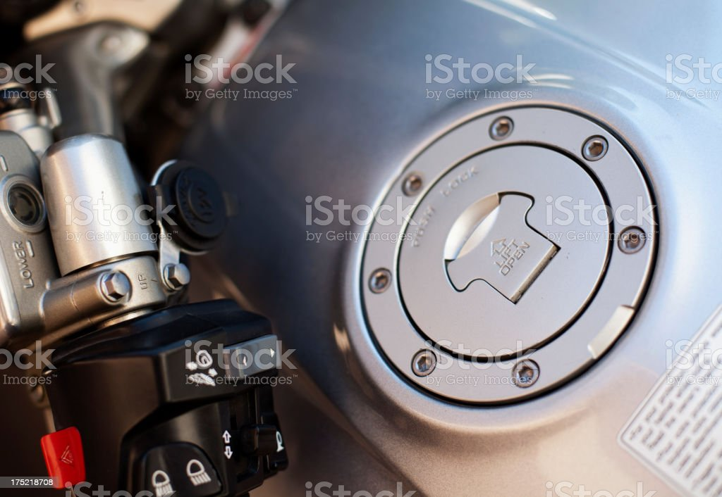 Oil Tank Motorbike royalty-free stock photo