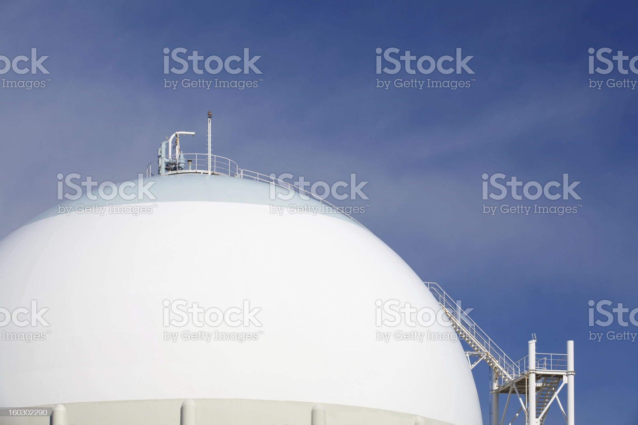 Oil tank royalty-free stock photo