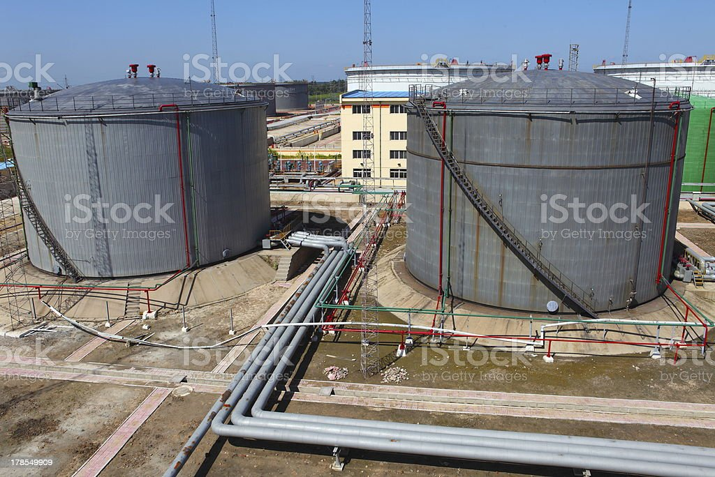 Oil tank royalty-free stock photo