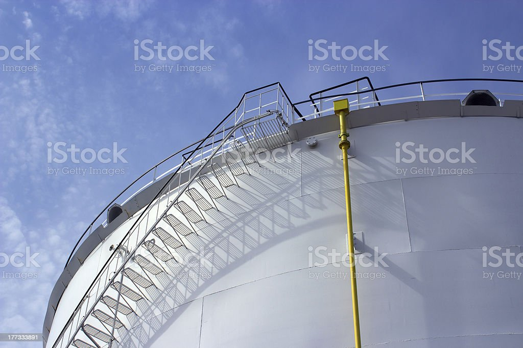 Oil tank stairs royalty-free stock photo