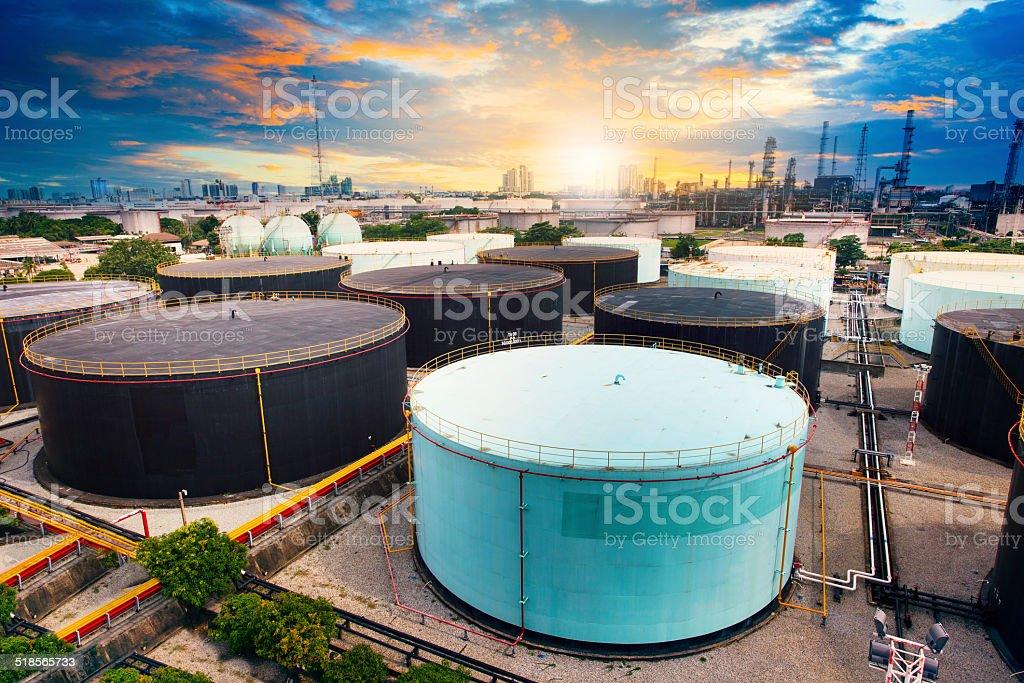 oil tank storage in refinery industry estate stock photo