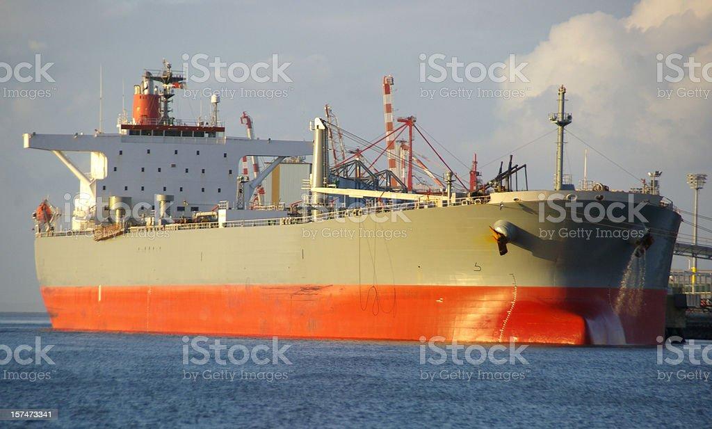 Oil Tanker at terminal royalty-free stock photo