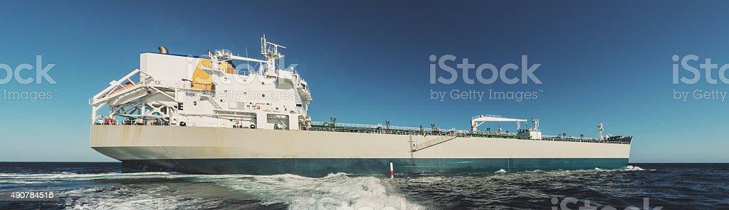 Oil Tanker Departure stock photo