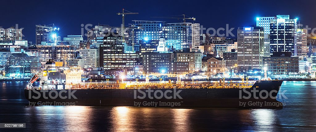 Oil Tanker in Halifax stock photo