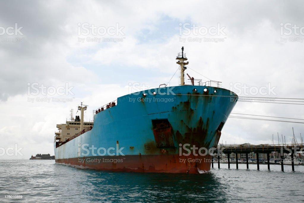 Oil Tanker in Port royalty-free stock photo