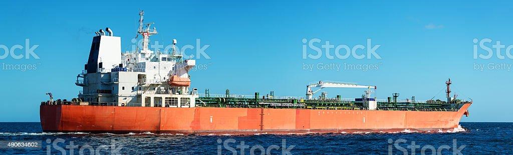 Oil Tanker in the Atlantic stock photo