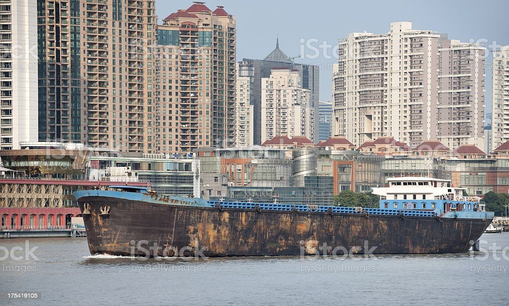 Oil Tanker, Shanghai (XXXL) royalty-free stock photo