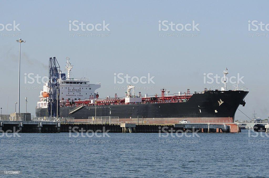 Oil Tanker Ship at dock royalty-free stock photo