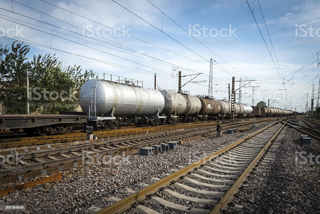 Oil Tanker Train royalty-free stock photo