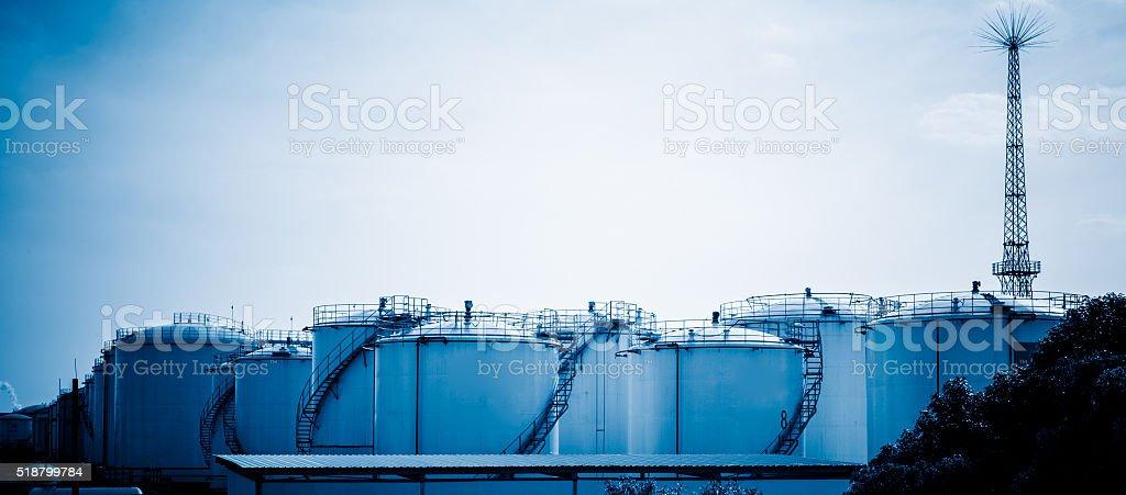 Oil tanks, Petrochemical plant. stock photo
