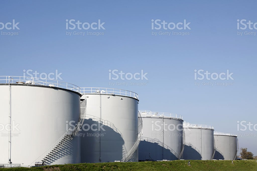 Oil tanks royalty-free stock photo