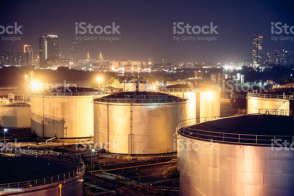 oil tanks stock photo