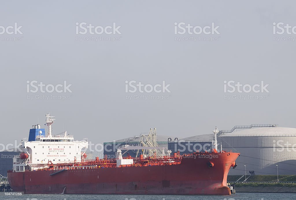 Oil terminal royalty-free stock photo