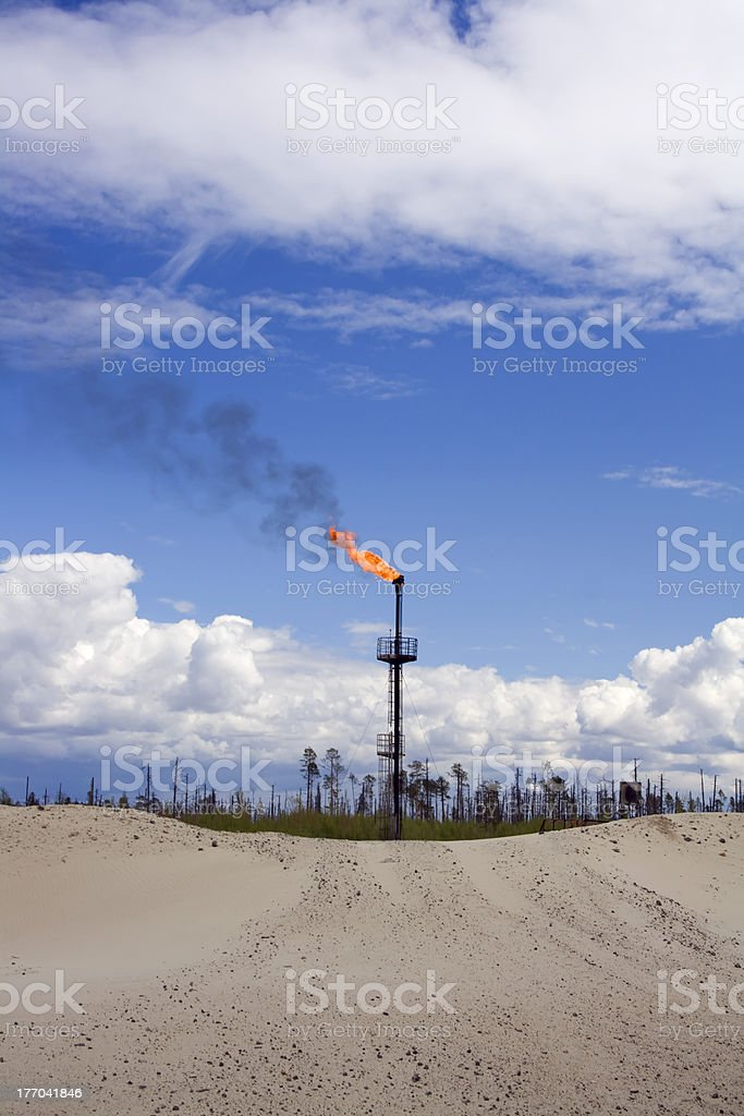 Oil torch royalty-free stock photo