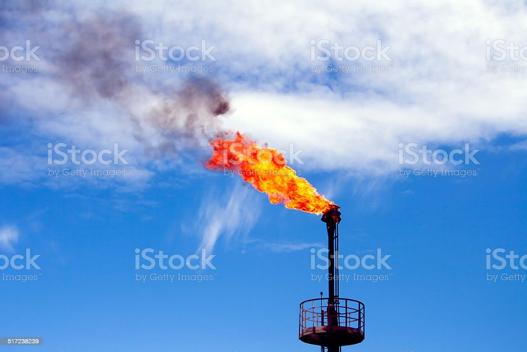 Oil torch stock photo